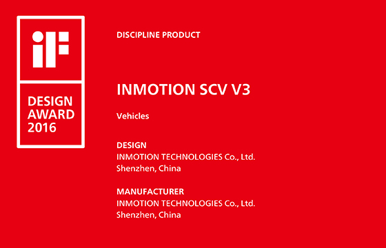 INMOTION V3 Won iF DESIGN AWARD 2016