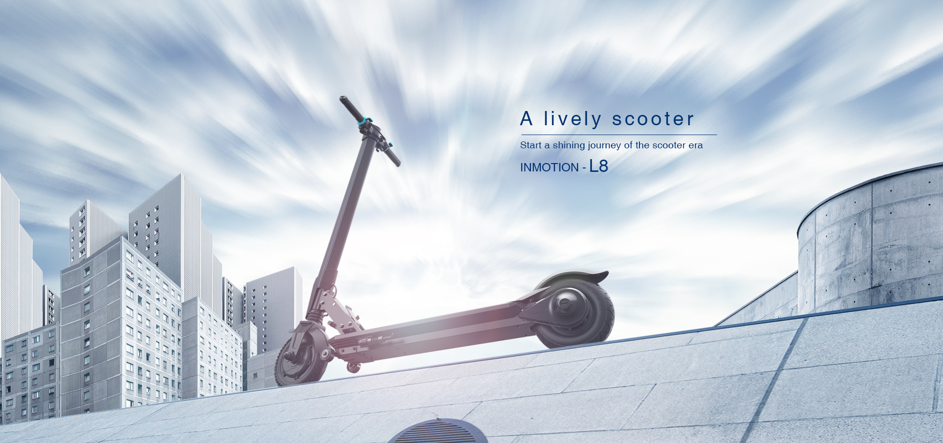A lively scooter,Start a shining journey of the scooter era,INMOTION - L8